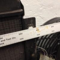 radiator width hole to hole